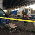 New sweep of homeless camp under Spokane Street Viaduct